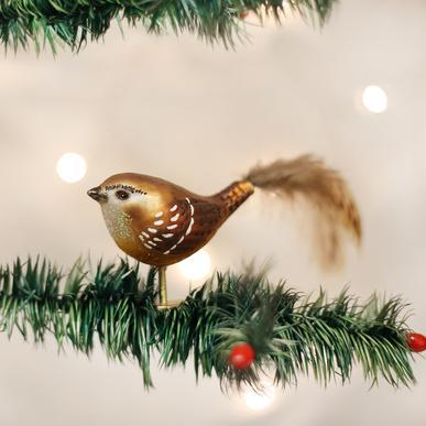 Wren Ornament on Tree