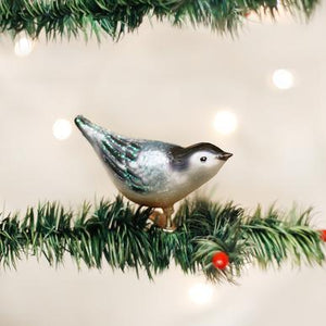 Nuthatch Ornament on Tree