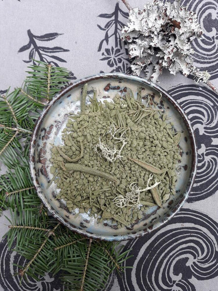 Spruce Forest Bath Salts in dish