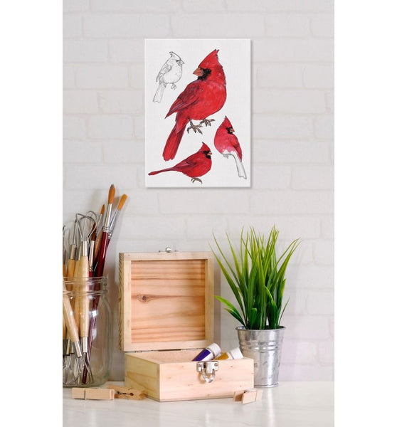 Male Cardinal 5x7 Canvas Print