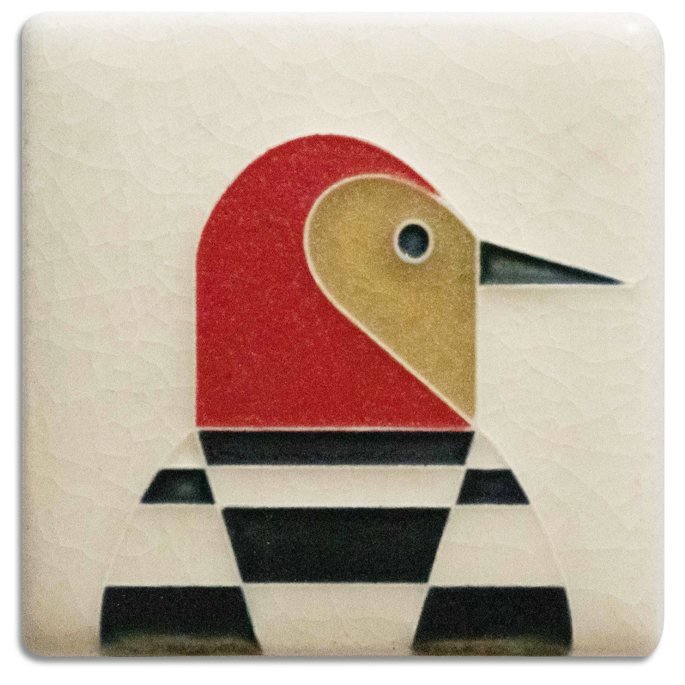 Motawi woodpecker tile