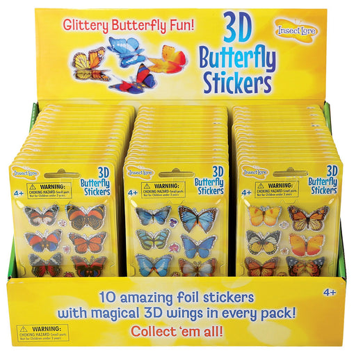 Insect Lore 3D Butterfly Stickers