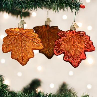 Assorted Maple Leaf Ornament on Tree