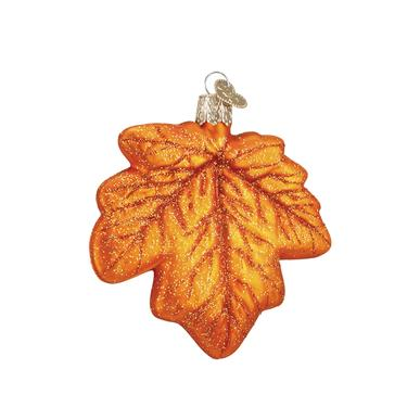 Assorted Maple Leaf Ornament Orange Tint