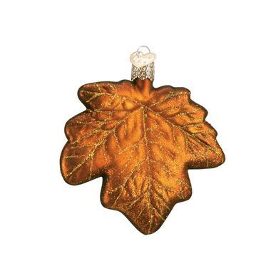 Assorted Maple Leaf Ornament Brown Tint