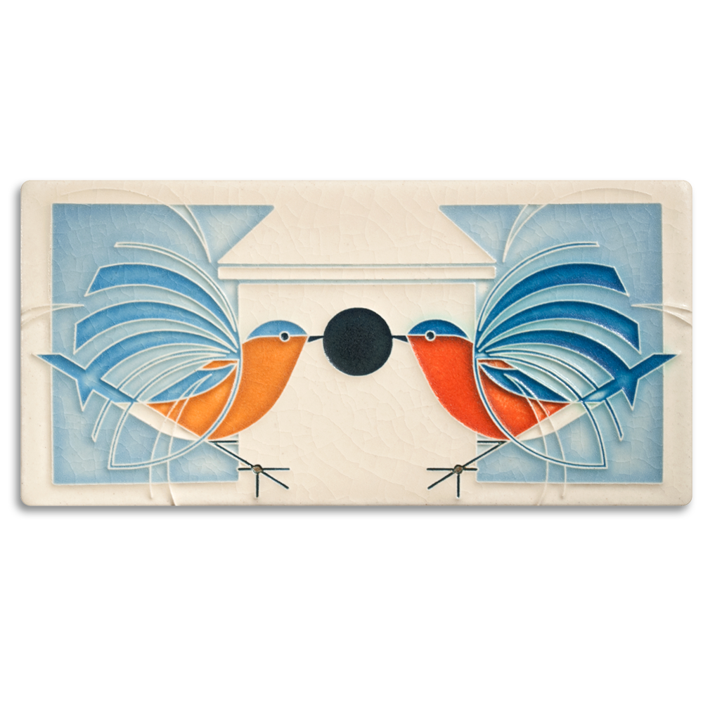 Motawi homecoming bird tile