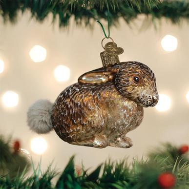 Vintage Cottontail Bunny Ornament on Tree