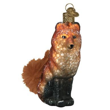 Vintage Fox Ornament Right Side View