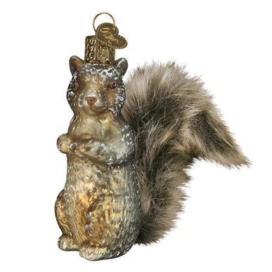 Vintage Squirrel Ornament Left Side View