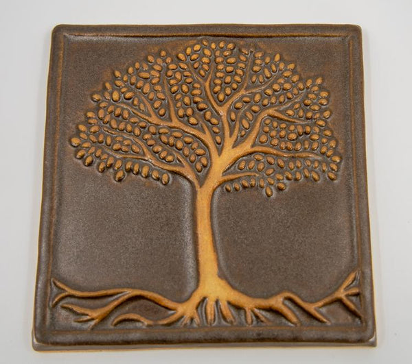 Tree of Life tile - brown