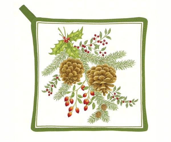 Holiday Pinecones Potholder
