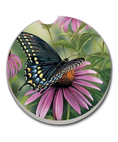 Black Swallowtail Butterfly Car Coaster