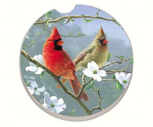 Beautiful Songbirds Cardinals Car Coaster