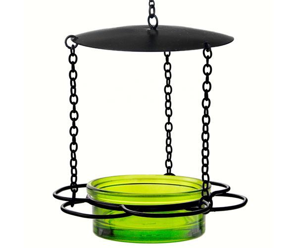 Lime hanging floral feeder
