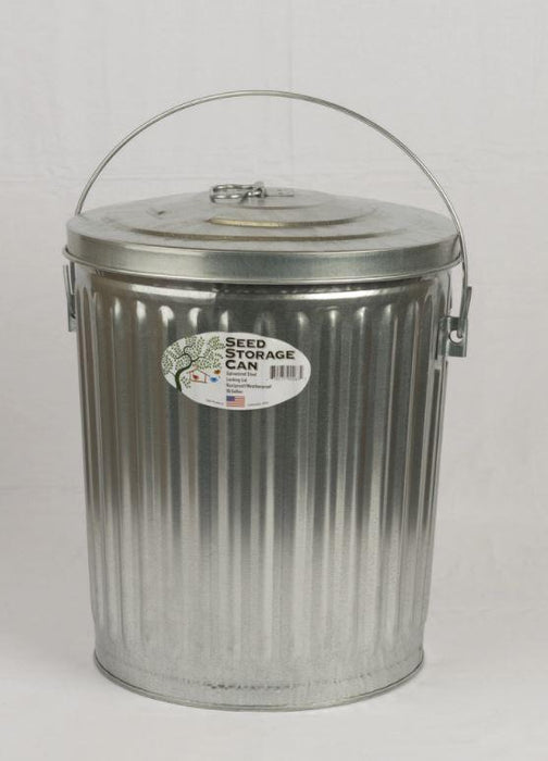 10 Gal. Galvanized Seed Storage Can