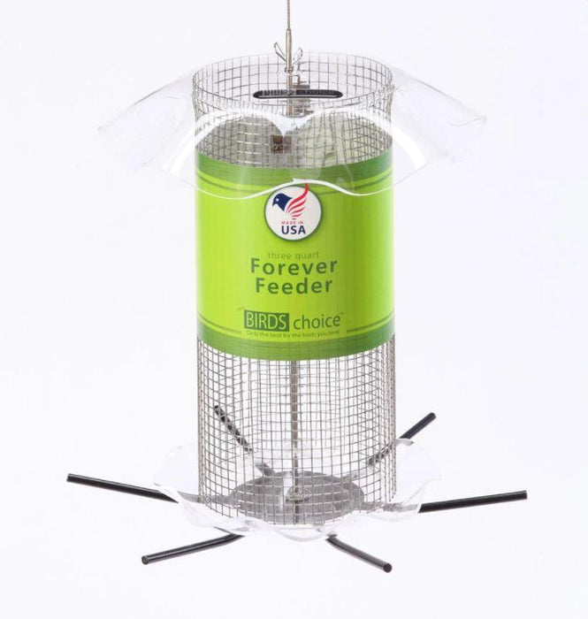 3 Quart Clear Sunflower/Peanut Forever Feeder with label