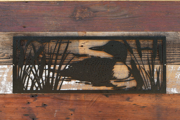 Loon metal wall art