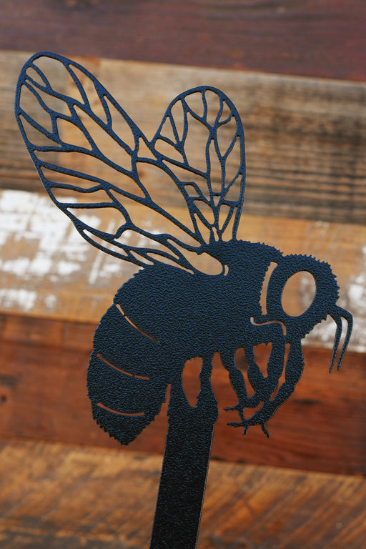 Bumble Bee Garden Stake in black