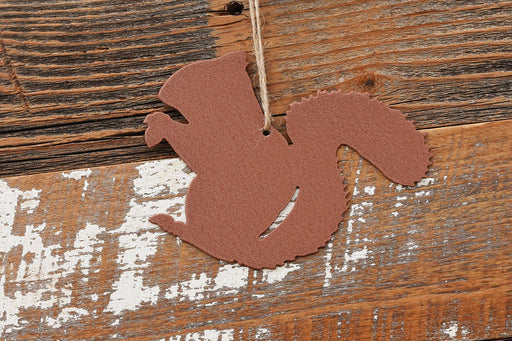 Metal Red Squirrel Ornament