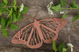 Copper male monarch wall art