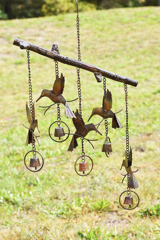 Hummingbird Flamed Copper Wind Chime