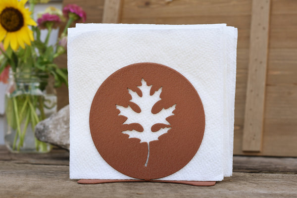 cooper oak leaf napkin holder