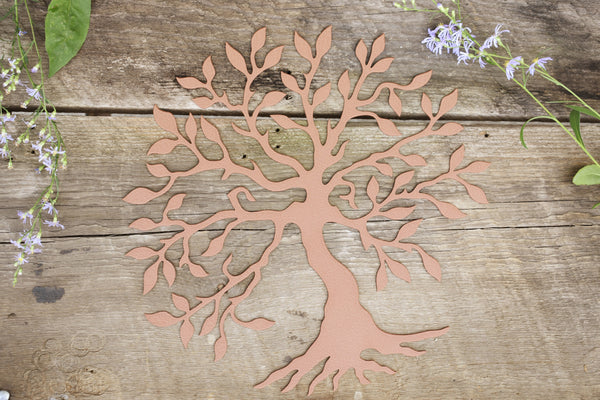 copper olive tree wall art