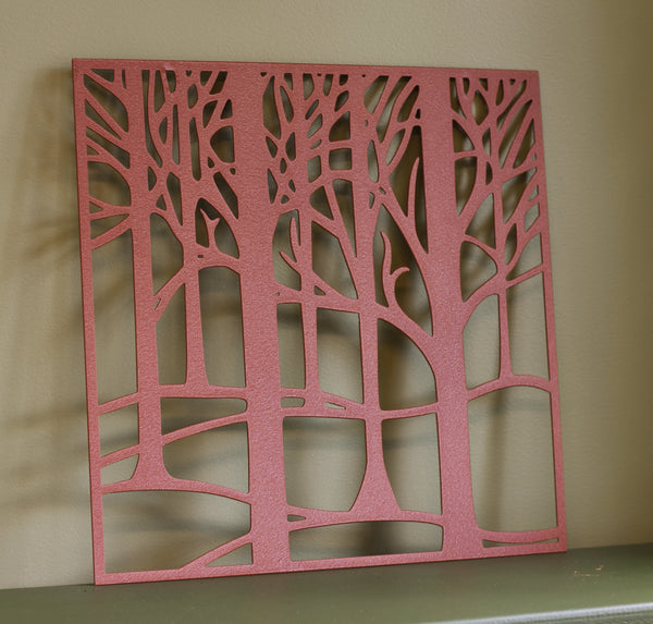 copper metal tree wall art