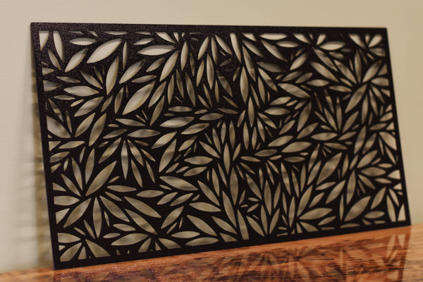 Metal leaf panel wall art
