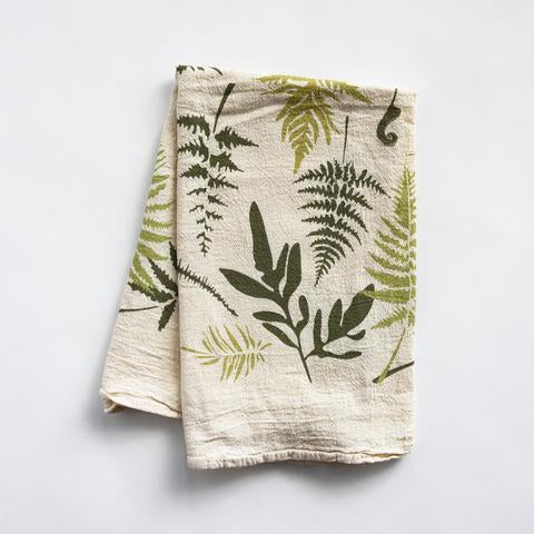 Towel with ferns