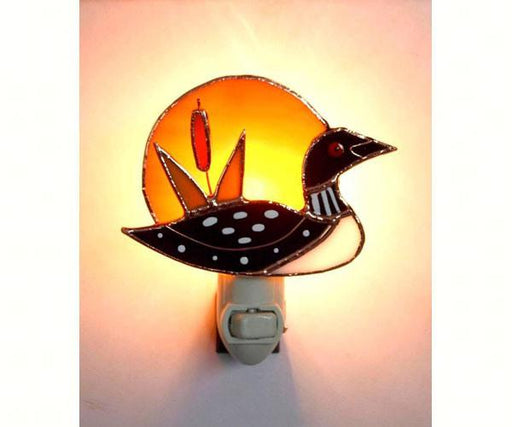 Stained Glass Loon Sunrise Nightlight