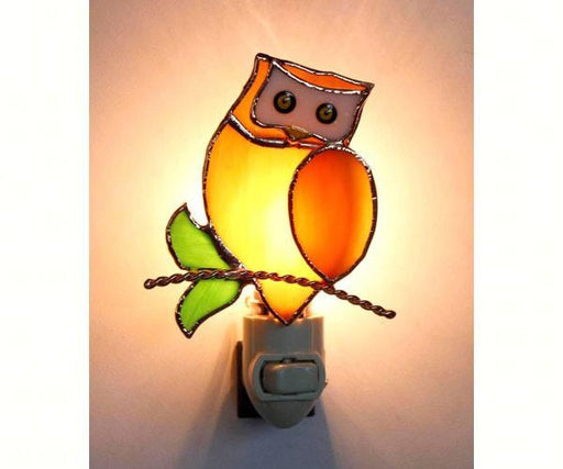 Stained Glass Owl Nightlight