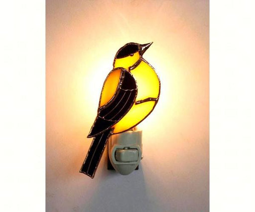 Stained Glass Goldfinch Nightlight