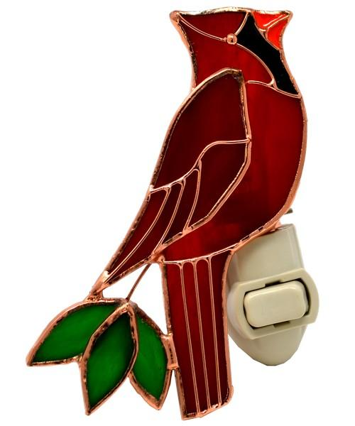 Stained Glass Cardinal Nightlight