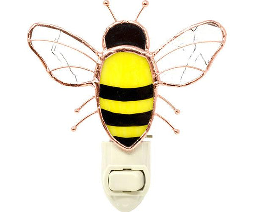 Stained Glass Bee Nightlight