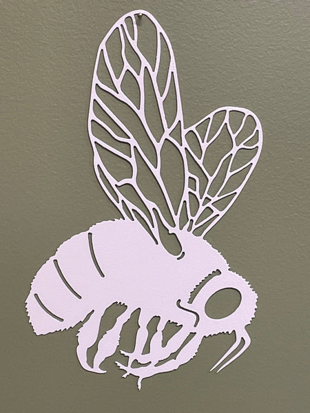 Bumble Bee Wall Art in White River with green background