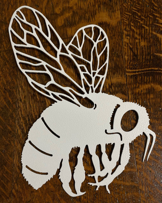 Bumble Bee Wall Art in White River with wooden background