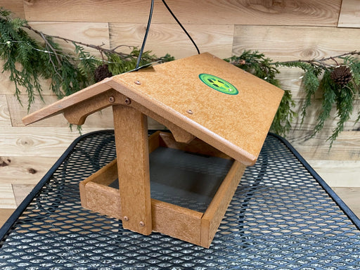 "Fly Thru Recycled Feeder - 9""x10"" end view"