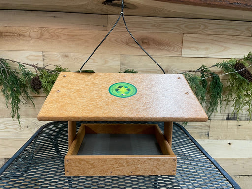 "Fly Thru Recycled Feeder - 9"" x 10"" side view"