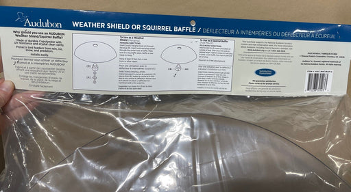 Weather Shield/Squirrel Baffle Installation Instructions