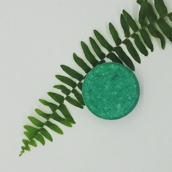 spearmint anti-dandruff shampoo bar with fern