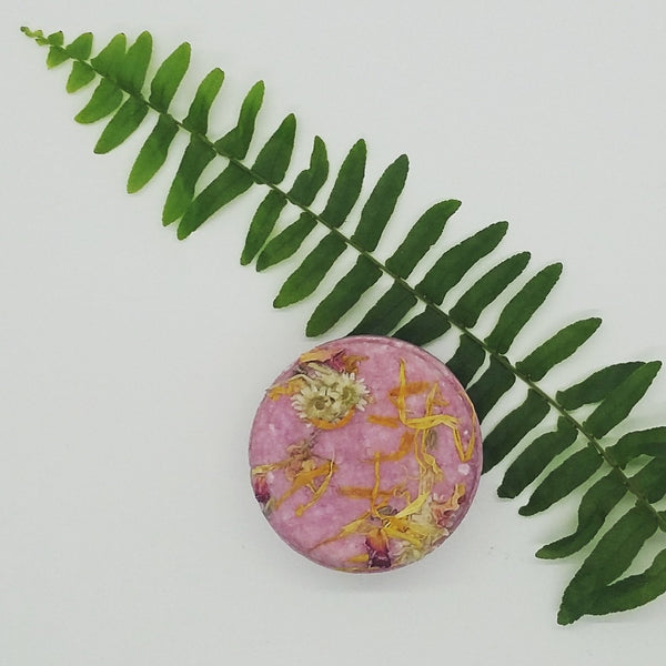wildflower shampoo bar with fern