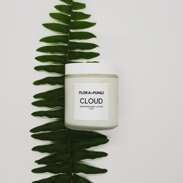 cloud unscented body lotion with fern