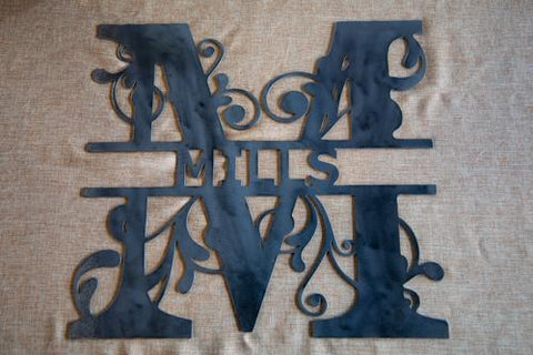 Rustic Steel Monogram