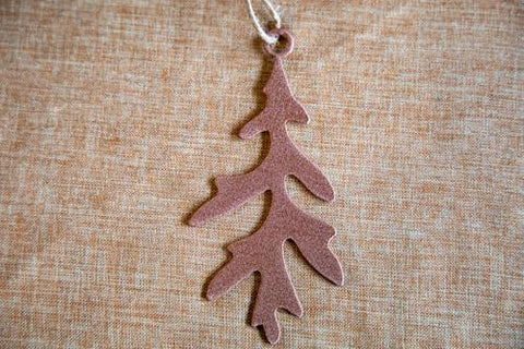 White Oak #5 Leaf Ornament