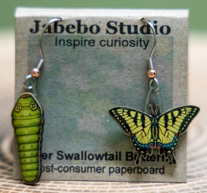 Jabebo tiger swallowtail butterfly earrings