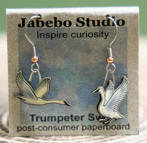 Trumpeter Swan earrings