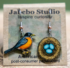 American Robin earrings