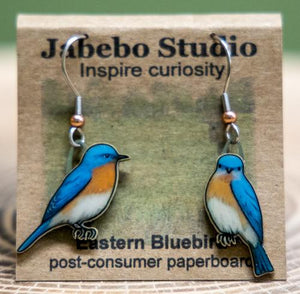 Jabebo eastern bluebird earrings