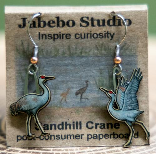 Sandhill Crane earrings